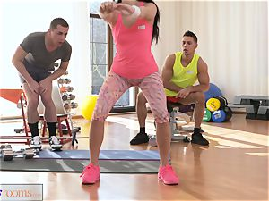 fitness apartments spit roast three way boinking and facial