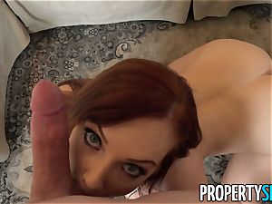 PropertySex ginger-haired Dani Jensen romps Her customer