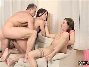 nubile nice caboose mummy s 2 compeer s daughters getting wild in her property