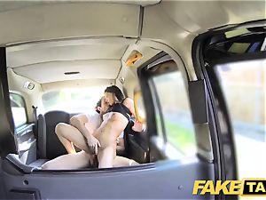 faux cab tall Spanish bombshell plows her bf in the back