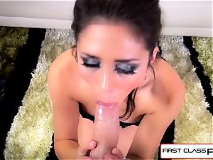 first-ever Class pov - nubile Anna Morna deepthroat a large thick spear