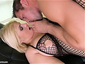 Brooklyn Bailey likes the muscular sword working hard to spew out on her