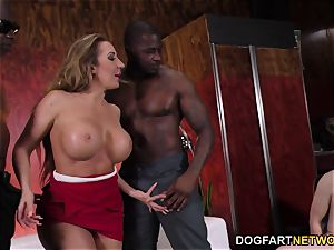 giant caboose Richelle Ryan pulverizes big black cock In Front Of A cheating