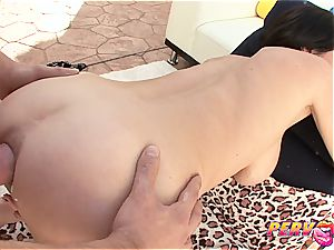Veronica Avluv spreading her ass-hole