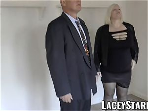 LACEYSTARR - Mature English stunner drilled and facialized