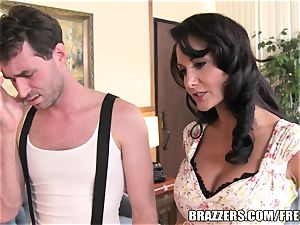Brazzers - Ava Addams - 2 greedy faceholes on His knob