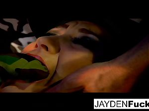 Jayden gets engaged on a lucky solo cock