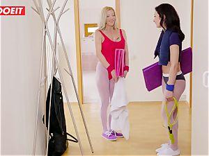 LETSDOEIT -Curios sonnie humps mother and Her Yoga teacher