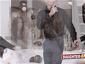 nasty daughters determine to engage in steaming fuckfest with their dads