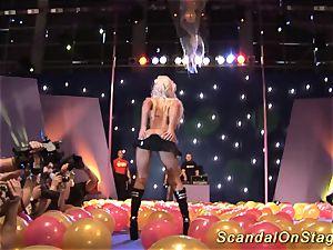 horny public fuck stick orgy display