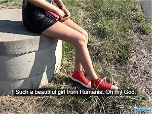 Public Agent sweet smooth-shaven Romanian cooter gets creampied