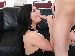 sexy Phoenix Marie tucks her jaws with hard stiffy