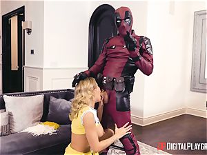 Jessa Rhodes gets nailed by strung up superhero