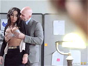 new dame Stephani Moretti filled with cum at work