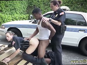 hefty dark-haired mummy and pulverized by police baton very first time I will catch any perp with a