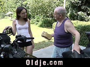 granddad sleepy man rod Woke Up By A youthful humid coochie