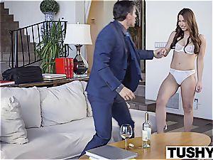 TUSHY super-fucking-hot nanny Taylor Sands enjoys rectal