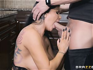 Romi Rain and Aubrey black plumb after Romi blows Xander