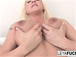Leya Falcon talks sloppy then shows off her crevices