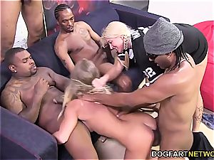 Britney youthfull likes her very first multiracial gang-fuck