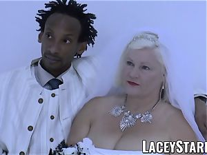 LACEYSTARR - granny bride fed with spunk after humping