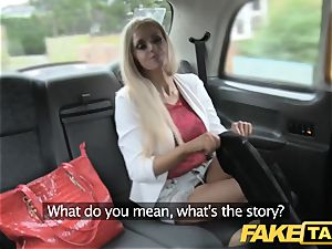 fake taxi skinny towheaded with smallish caboose gets ass-fuck lovemaking