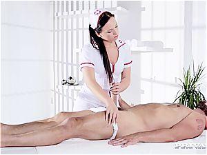 insane Natalee Nurses a firm man meat