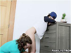 super-steamy tomboy bi-atch boinks her stepbrother