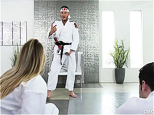 Karate class turns into a hard-core nail