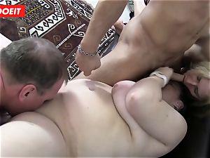 German foursome fuck-fest with mischievous plumper grandmas