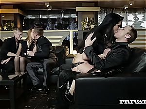 Alexis Crystal Loses Her ass fucking purity in an orgy