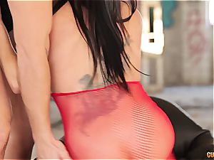 Bianca gets a firm shagging in a sloppy deprived mansion