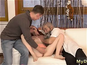 kitty older guy unexpected experience with an old gentleman
