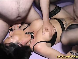 Real gangbang party with cougar Dacada