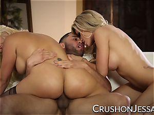 CrushGirls - Jessa and Savana share a large hard-on