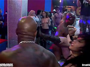 Mass pornography lovemaking in a striptease bar