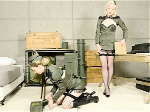 Lily Labeau and Ivy Wolfe army honeys puss play