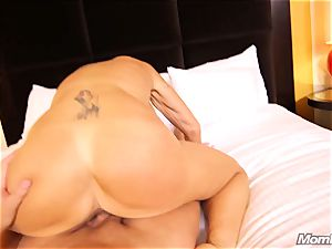 huge-chested Russian GILF dumps all over bone