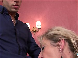 LaCochonne - Mature French Marina Beaulieu pounded stiff