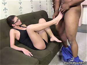 multiracial footjob for thick black beef whistle