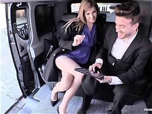 humped IN TRAFFIC - sizzling car fuckfest with kinky Czech stunner