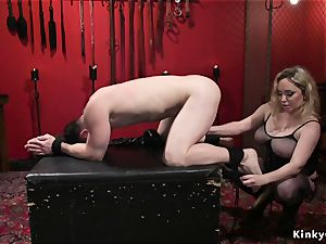busty mistress assfuck ravages male