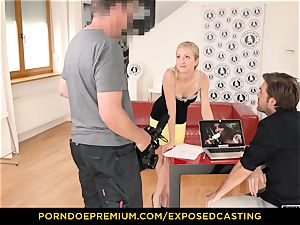 uncovered audition - curvy honey hook-up prowess test in casting