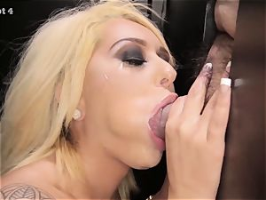 super-hot light-haired gasping on strangers weenies in gloryhole