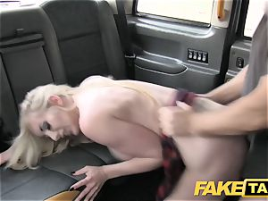 faux taxi fine fuck anal invasion fuckfest and yam-sized facial cumshot for towheaded