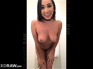 BLACKEDRAW Latina wifey squirts with 12 inch monster ebony meatpipe