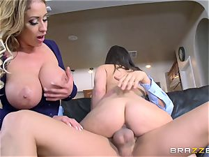 Gia Paige and Eva Notty getting plumbed