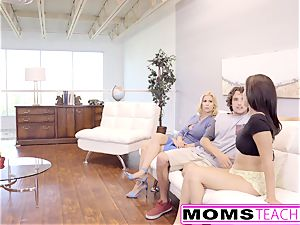 MomsTeachSex - mother Caught Me With My gf And Joins
