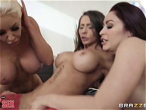Monique Alexander and her chicks nail together