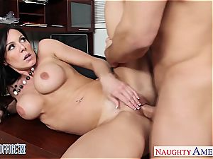 ultra-cutie brown-haired Kendra eagerness porking in the office